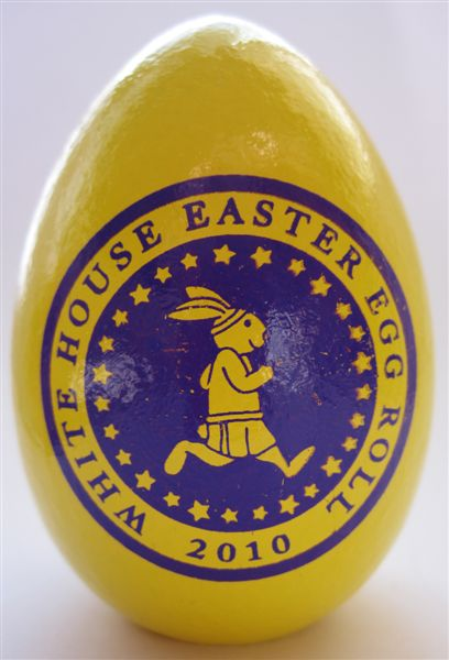 Yellow Egg from White House Easter Egg Roll